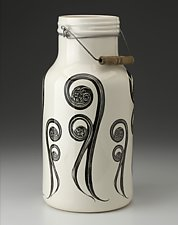 Jug with Handle: Fiddlehead by Laura Zindel (Ceramic Vessel)