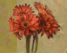 Orange Gerbers by Cathy Locke (Giclee Print)