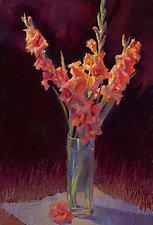 Orange Gladiolus by Cathy Locke (Giclee Print)