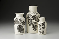 Set of Three Jars: Hops by Laura Zindel (Ceramic Vessel)