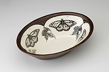 Large Serving Dish: Monarch Butterfly by Laura Zindel (Ceramic Serving Dish)