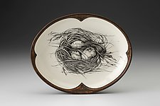 Small Serving Dish: Quail Nest by Laura Zindel (Ceramic Platter)