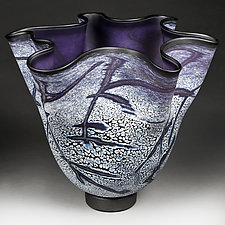 Violet Valley by Eric Bladholm (Art Glass Vessel)