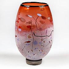 Transcendent Tangerine by Eric Bladholm (Art Glass Vase)