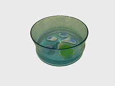 Aqua Bowl by Jennifer Caldwell (Art Glass Bowl)