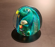 Green Undersea by The Glass Forge (Art Glass Paperweight)