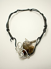 Window to the Waves by Valerie Ostenak (Silver, Steel & Stone Necklace)