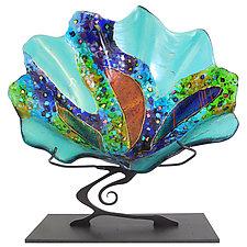Sea Glass Shell by Karen Ehart (Art Glass Sculpture)