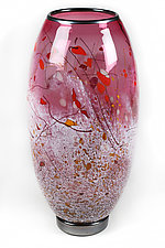 Cranberry Creation by Eric Bladholm (Art Glass Vase)