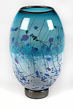 Aquatic Aspirations by Eric Bladholm (Art Glass Vase)