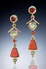 Drop Earrings by Ilene Schwartz (Gold & Stone Earrings)