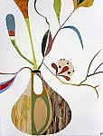 Abstract Flora I by Mary Calkins (Giclée Print)