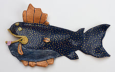 Moonrise Stardust by Byron Williamson (Ceramic Wall Sculpture)