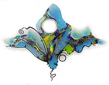 Wings by Karen Ehart (Art Glass Wall Sculpture)