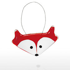 Red Fox by Lori Haight (Art Glass Ornament)