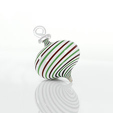 All Tied Up by Theo Keller (Art Glass Ornament)