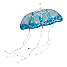 Moon Jelly by Susan Bradshaw (Art Glass Ornament)