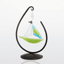 Teardrop Ornament Stand by Steven Bronstein (Metal Ornament Stand)
