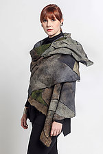Nuno-Felted Wrap by Anne Vincent  (Silk & Wool Wrap)