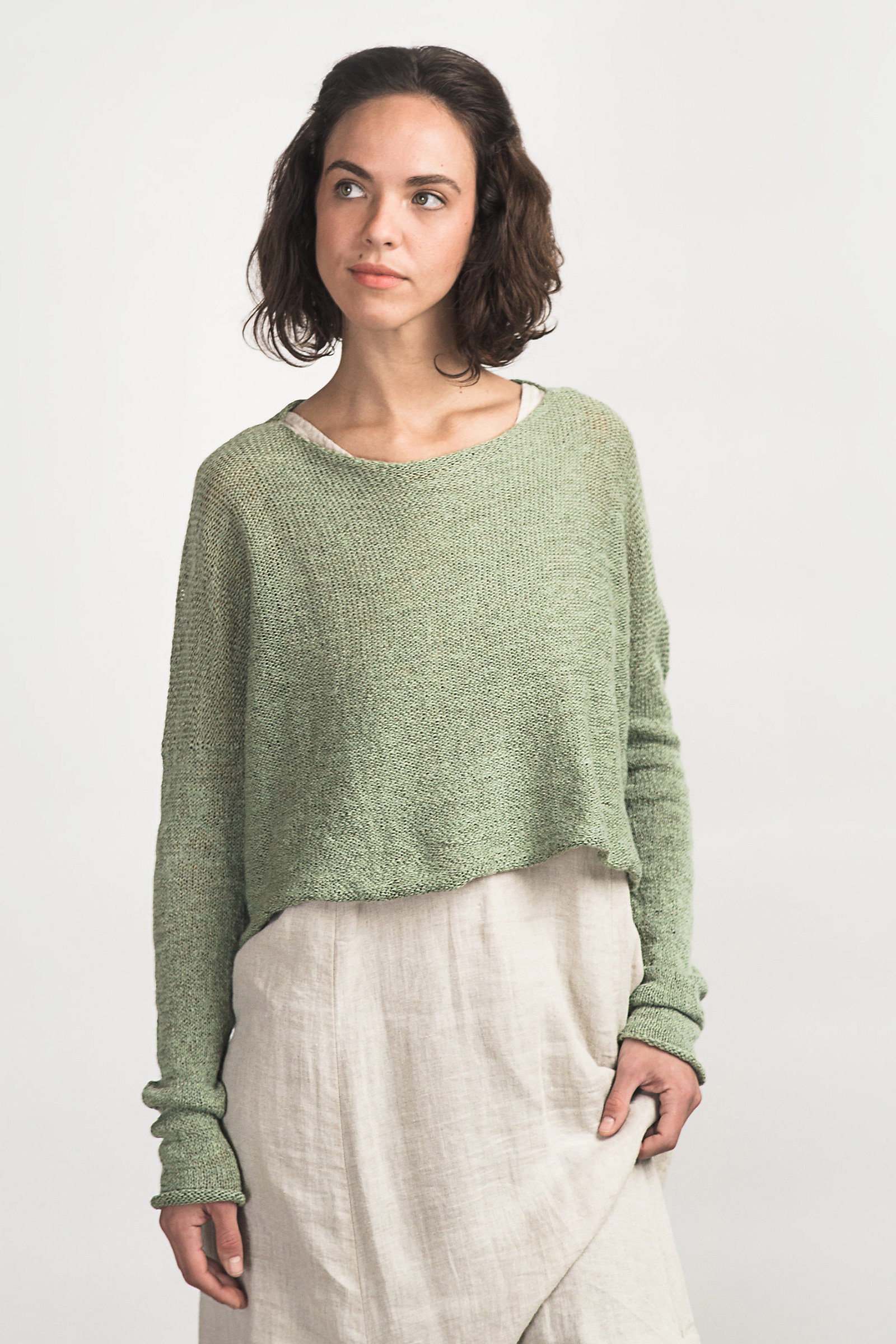 Cropped Boxy Pull By Cara May Knit Sweater Artful Home
