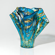 Light on Water Vessel by Varda Avnisan (Art Glass Vessel)