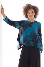 Crop Swallowtail Top by Michael Kane  (Shibori Top)
