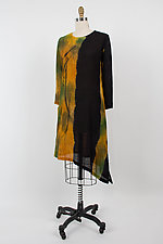 Angle Long Tunic with Pocket by Michael Kane  (Shibori Dress)