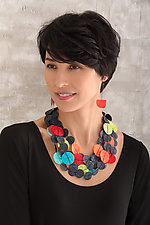 Joomchi Five Strand Necklace by Nancy Raasch (Silver & Paper Necklace)
