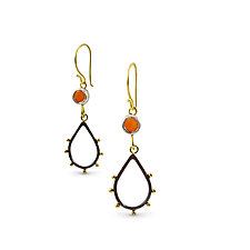 Spark and Fire Earrings by Nancy Troske (Gold, Silver & Stone Earrings)