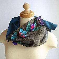 Blossom Felt Cowl by Mila Sherrer (Silk & Wool Cowl)