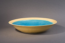 Butter Wrap with Dark Turquoise by Amber Archer (Ceramic Bowl)