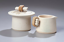 Creamer & Sugar Set by Jan Schachter (Ceramic Creamer & Sugar)