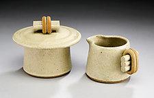 Creamer & Sugar Set by Jan Schachter (Ceramic Creamer & Sugar)