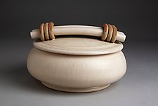 White Casserole by Jan Schachter (Ceramic Casserole)