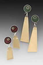 PTP Earrings #1 by Eileen Sutton (Silver & Resin Earrings)