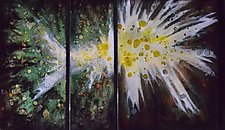 Spring Nebula Trio by Cynthia Miller (Art Glass Wall Sculpture)