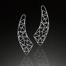 Triangle Jib Earrings by Nora Fischer (Silver Earrings)