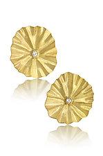 Diamond Lotus Earrings by Petra Class (Gold & Stone Earrings)
