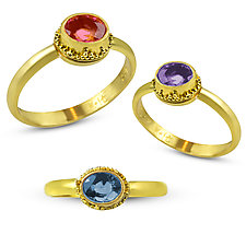 Byzantine Jewels Ring by Nancy Troske (Gold & Stone Ring)