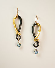 VO Reserve Earrings by Valerie Ostenak (Gold, Steel & Stone Earrings)