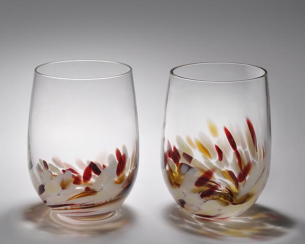 94c2d1ec0de Vino Breve Glasses by Corey Silverman (Art Glass Drinkware)   Artful ...