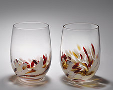 Vino Breve Glasses by Corey Silverman (Art Glass Tumblers)