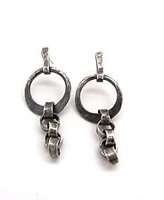 Irregular Chain Link Earrings by Lauren Passenti (Silver Earrings)