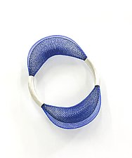 Loop Bangle by Michal Lando (Silver & Nylon Bracelet)
