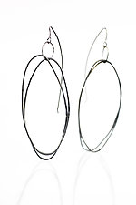 Large ByHand Earrings by Lisa LeMair (Silver Earrings)