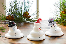 Melting Snowmen by Thomas Kelly (Art Glass Paperweight)