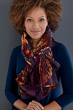 Brushstroke Burnout Shawl by Kevin O'Brien (Silk Velvet Scarf)