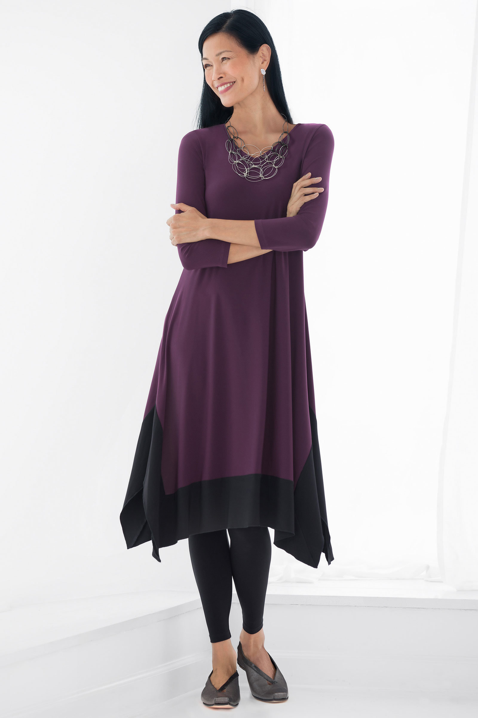 Solid Lisbon Dress By Comfy Usa Knit Dress Artful Home
