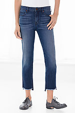 Shark Bite Straight Leg Jeans by Parker Smith  (Straight Leg Jeans)
