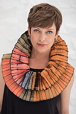 Accordion Bonbon Scarf by Mary Jaeger  (Silk Scarf)